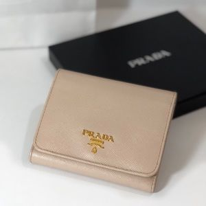 Prada Powder Pink Saffiano Leather Wallet